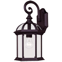 Kensington 1 Light 16 inch Black Outdoor Wall Lantern in Textured Black