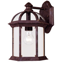 Kensington 1 Light 12 inch Rustic Bronze Outdoor Wall Lantern
