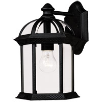 Kensington 1 Light 12 inch Black Outdoor Wall Lantern in Textured Black