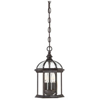 Kensington 3 Light 8 inch Rustic Bronze Hanging Lantern Ceiling Light