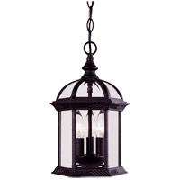 Kensington 3 Light 8 inch Black Outdoor Hanging Lantern in Textured Black