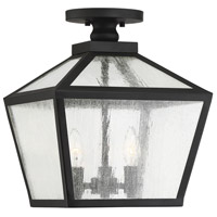 Savoy House 5-105-BK Woodstock 3 Light 12 inch Black Outdoor Flush Mount