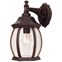 Savoy House 5-1090-72 Exterior 1 Light 13 inch Rustic Bronze Outdoor Wall Lantern in Clear Beveled photo thumbnail
