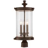 Palmer 3 Light 22 inch Walnut Patina Outdoor Post Lantern