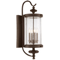 Palmer 4 Light 34 inch Walnut Patina Outdoor Wall Lantern