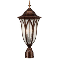 Dayton 2 Light 22 inch New Tortoise Shell Outdoor Post Lantern
