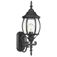 Savoy House 5-1281N-BK Exterior Collections 1 Light 19 inch Black Outdoor Wall Lantern