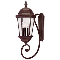 Wakefield 3 Light 31 inch Walnut Patina Outdoor Wall Lantern