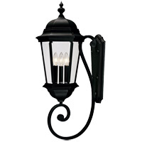 Wakefield 3 Light 31 inch Textured Black Outdoor Wall Lantern