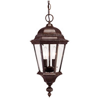 Wakefield 2 Light 9 inch Walnut Patina Outdoor Hanging Lantern