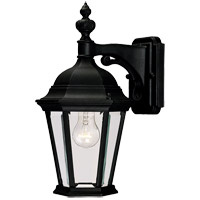 Savoy House Wakefield 1 Light Outdoor Wall Lantern in Textured Black 5-1304-BK