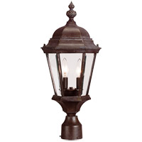 Wakefield 2 Light 21 inch Walnut Patina Outdoor Post Lantern