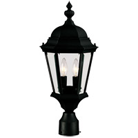 Wakefield 2 Light 21 inch Textured Black Outdoor Post Lantern