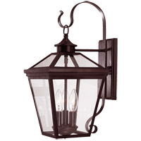 Ellijay 3 Light 19 inch English Bronze Outdoor Wall Lantern