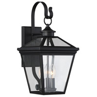 Ellijay 3 Light 19 inch Black Outdoor Wall Lantern