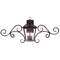 Ellijay 3 Light 17 inch English Bronze Outdoor Wall Lantern, with Scrolls
