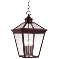 Ellijay 4 Light 12 inch English Bronze Outdoor Hanging Lantern