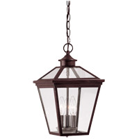 Ellijay 3 Light 9 inch English Bronze Outdoor Hanging Lantern