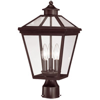 Ellijay 3 Light 18 inch English Bronze Post Lantern