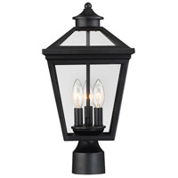 Ellijay 3 Light 18 inch Black Outdoor Post Lantern