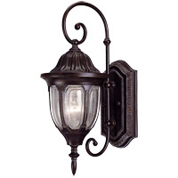 Savoy House Tudor 1 Light Outdoor Wall Lantern in Bark and Gold 5-1500-52