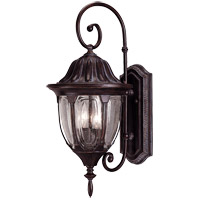 Tudor 2 Light 22 inch Bark and Gold Outdoor Wall Lantern