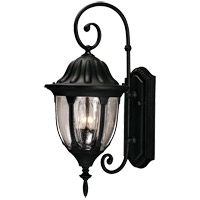 Tudor 2 Light 22 inch Textured Black Outdoor Wall Lantern