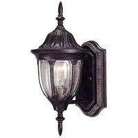 Tudor 1 Light 15 inch Bark/Gold Outdoor Wall Lantern