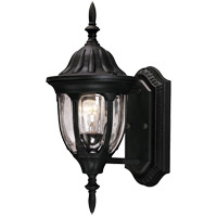 Tudor 1 Light 15 inch Textured Black Outdoor Wall Lantern