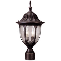 Savoy House Tudor 2 Light Outdoor Post Lantern in Bark and Gold 5-1504-52