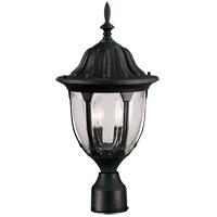Savoy House Tudor 2 Light Outdoor Post Lantern in Textured Black 5-1504-BK