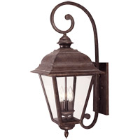 Savoy House Westover 3 Light Outdoor Wall Lantern in Walnut Patina 5-1602-40