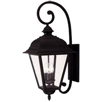 Westover 3 Light 25 inch Black Outdoor Wall Lantern