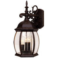 Savoy House Exterior Collections 3 Light Outdoor Wall Lantern in Rustic Bronze 5-1650-72