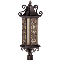Savoy House Forsyth 6 Light Outdoor Post Lantern in Como Black w/ Gold 5-193-62