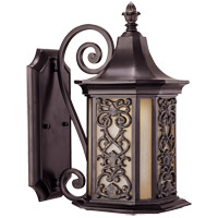 Savoy House Forsyth 1 Light Outdoor Wall Lantern in Como Black w/ Gold 5-196-62 photo thumbnail