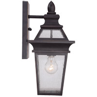 Savoy House Oaklawn 1 Light Outdoor Wall Lantern in Bark and Gold 5-210-1-52