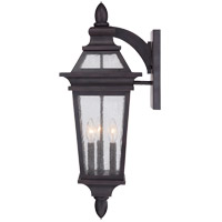 Savoy House Oaklawn 3 Light Outdoor Wall Lantern in Bark and Gold 5-211-3-52