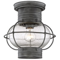 Enfield 1 Light 9 inch Oxidized Black Outdoor Flush Mount