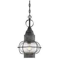 Enfield 1 Light 10 inch Oxidized Black Outdoor Pendant