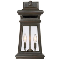 Taylor 2 Light 20 inch English Bronze with Gold Outdoor Wall Lantern