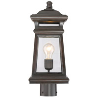 Taylor 1 Light 18 inch English Bronze with Gold Outdoor Post Lantern