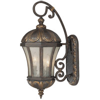 Ponce de Leon 3 Light 23 inch Old Tuscan Outdoor Wall Lantern