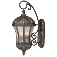 Ponce de Leon 4 Light 30 inch Old Tuscan Outdoor Wall Lantern in Pale Cream Seeded