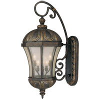 Ponce de Leon 6 Light 35 inch Old Tuscan Outdoor Wall Lantern in Pale Cream Seeded