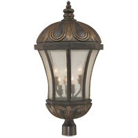 Ponce de Leon 6 Light 30 inch Old Tuscan Post Lantern in Pale Cream Seeded