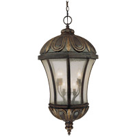 Ponce de Leon 8 Light 16 inch Old Tuscan Hanging Lantern Ceiling Light in Pale Cream Seeded