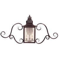 Monte Grande 3 Light 22 inch English Bronze Outdoor Wall Lantern, with Scrolls