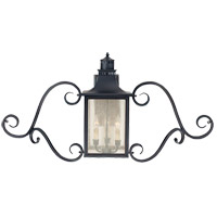 Monte Grande 3 Light 22 inch Slate Outdoor Wall Lantern, with Scrolls
