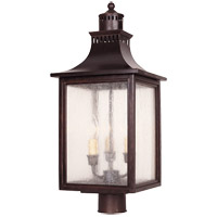 Monte Grande 3 Light 24 inch English Bronze Post Lantern